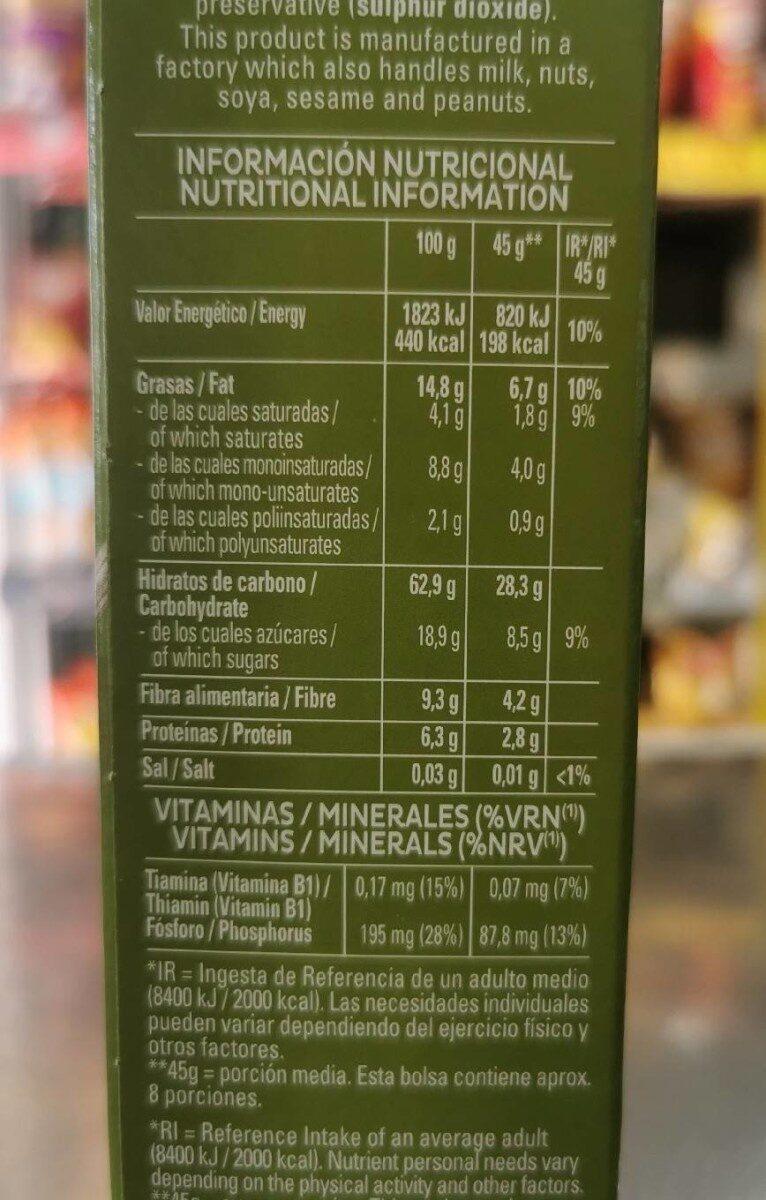 Quaker Cruesli Fruita - Información nutricional - es