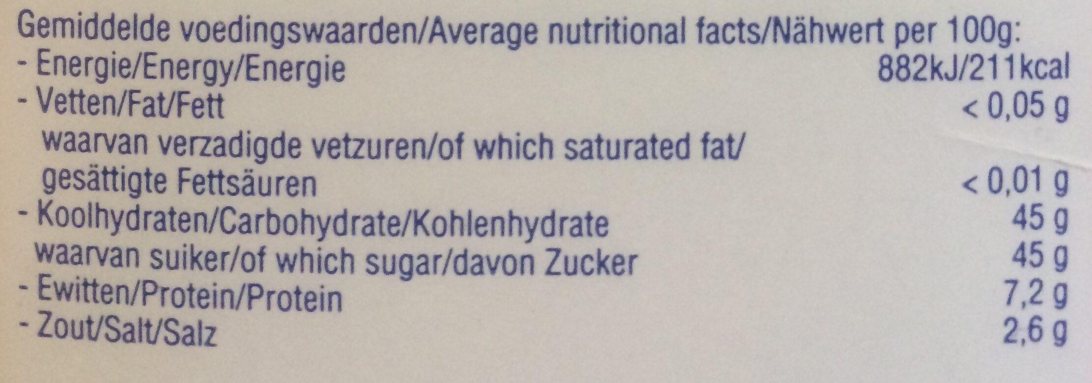 Kentel No 1 - Voedingswaarden