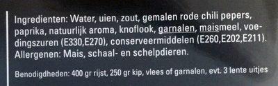 Boemboe Nasi Goreng - Ingrediënten - nl