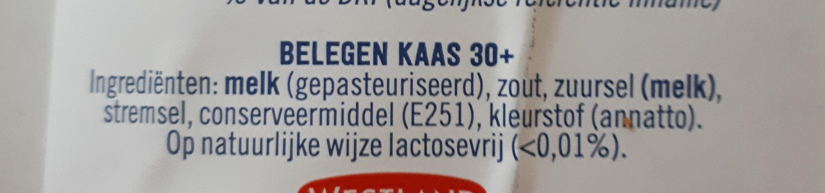 belegen kaas 30 - Ingredients - en
