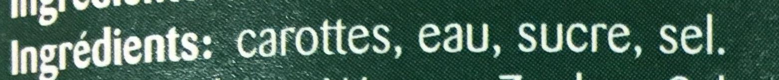 Carottes extra fins - Ingrédients