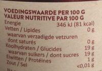 Nederlandse Kersen - Nutrition facts - nl