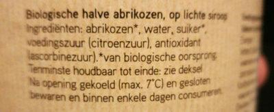 Biologische halve abrikozen op lichte siroop - Ingredients - nl