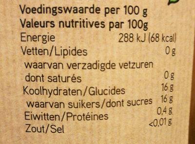 Biologische halve abrikozen op lichte siroop - Nutrition facts - nl