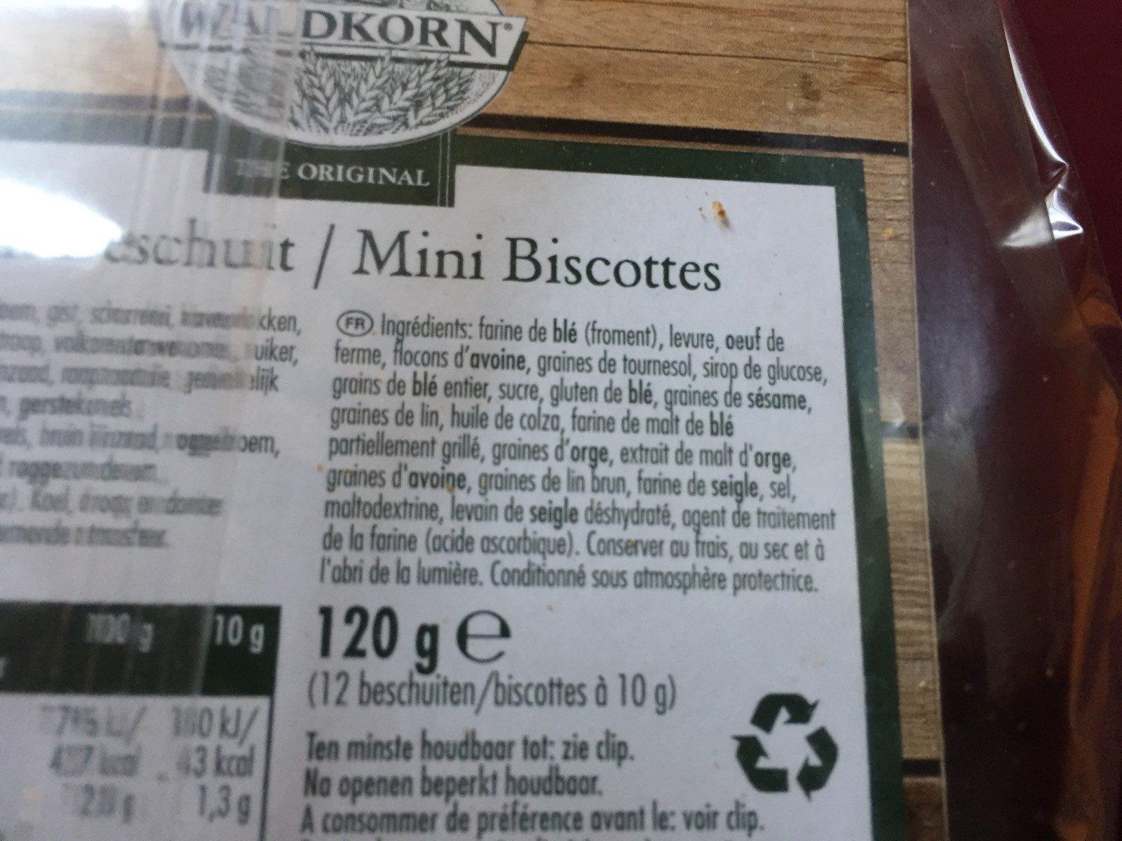 Mini biscottes Waldkorn - Ingrédients - fr