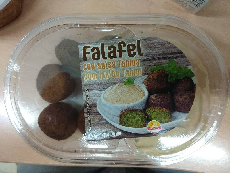 Falafel con salsa Tahina - Produit