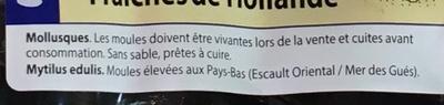 Moules fraîches de Hollande extra - Ingrédients