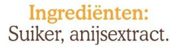 Anijs staafjes - Ingredients - nl