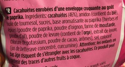 Crac à nut Paprika - Ingrediënten
