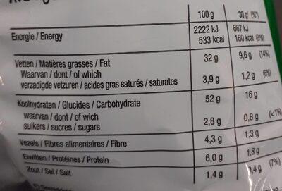 Lay's Bolognese Orginale - Voedingswaarden - fr