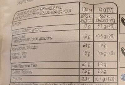 Oven baked crunchy biscuits - Nutrition facts - nl