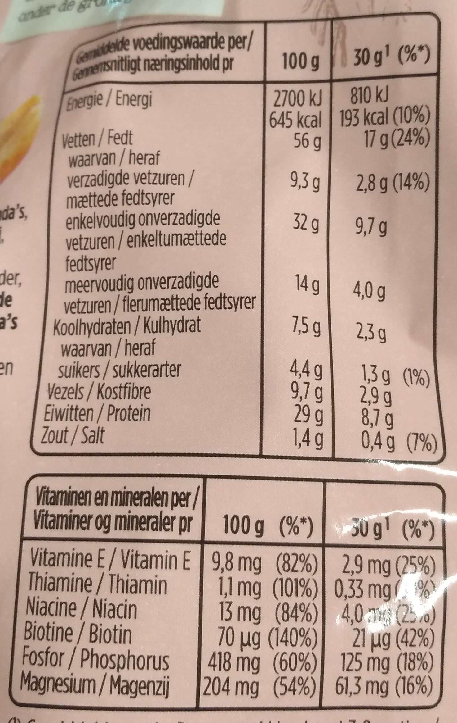 Pindas teriyaki flavour - Voedingswaarden - nl