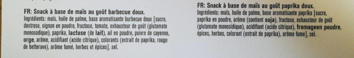 Doritos Bits Twisties & Zeros - Ingrediënten