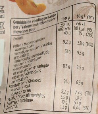 Cashews garlic & rosemary - Voedingswaarden