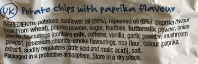 Lay's - Paprika flavour - Ingredients - en