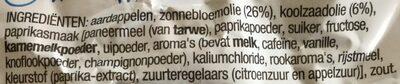 Lay's Paprika - Ingrediënten - nl