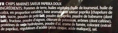 Lay's Sensations Red Sweet Paprika Flavor - Ingrediënten - fr