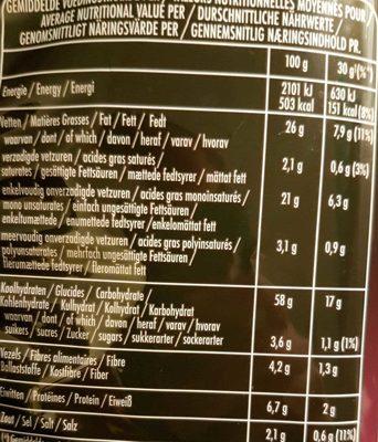 Sensations Premium Potato Chips - Voedingswaarden - fr