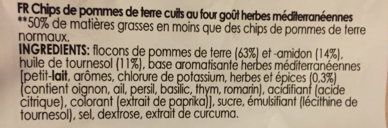 Chips Oven Mediterranean Herbs - Ingrediënten