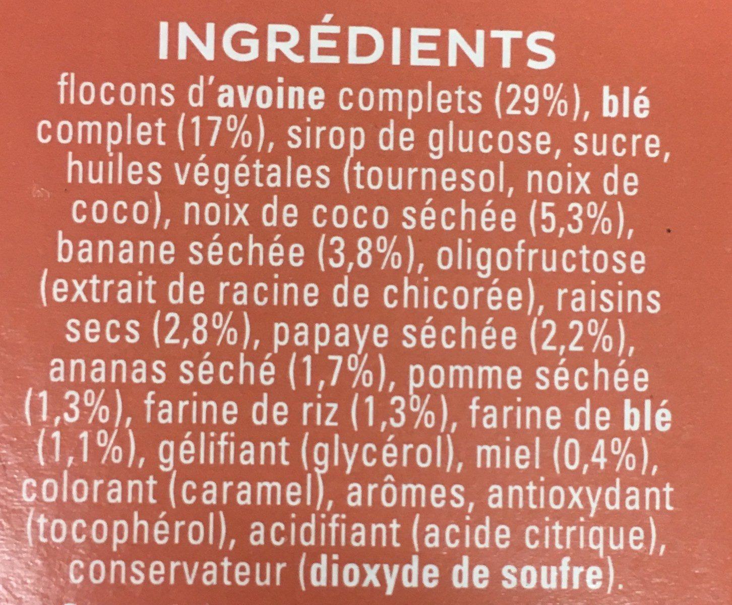 Cruesli Multifruit - Ingrediënten - nl