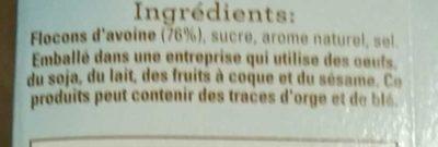Flocons d'Avoine Cassonade - Ingrediënten - fr