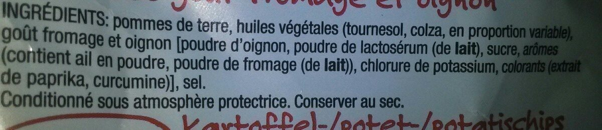 Cheese Onion - Ingrediënten - fr