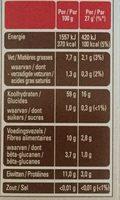 flocons d'avoine naturel - Voedingswaarden