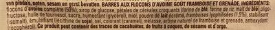 Quaker Havermout Reep, Framboos &granaatappel - Ingrediënten