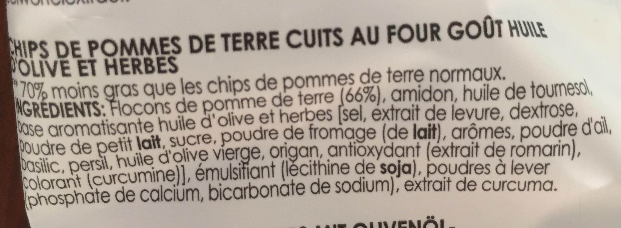 Oven - Chips goût huile d'olive & herbes - Ingrediënten - fr