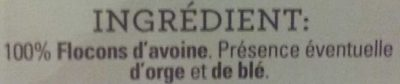 Flocons d'avoine - Ingrediënten