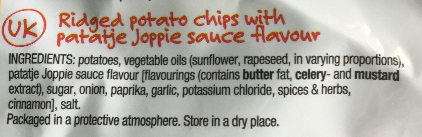Lay's Superchips Patatje Joppie Flavour - Ingredients