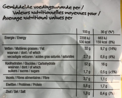 Lay's Superchips Patatje Joppie Flavour - Nutrition facts