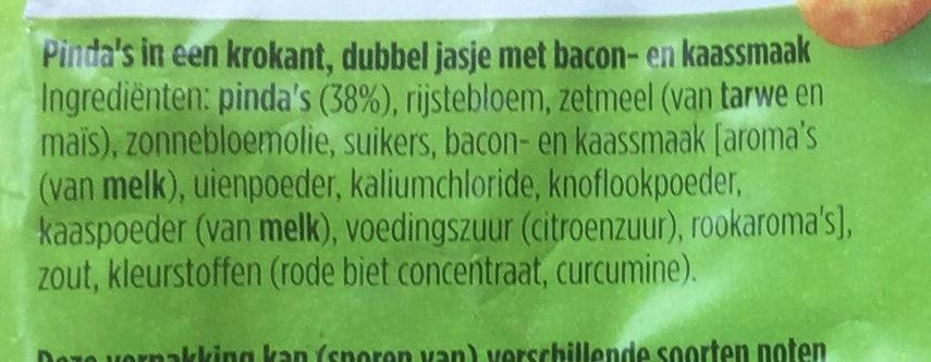 Tijgernootjes bacon kaas smaak - Ingrediënten - nl