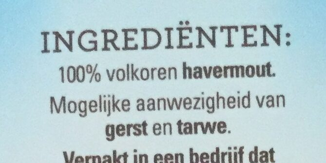 Havermout - Ingredients