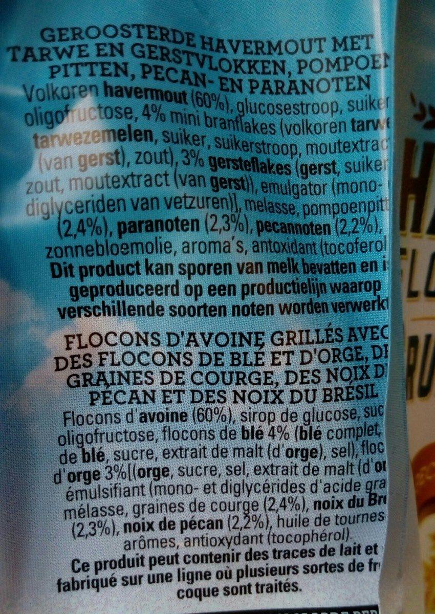 Granola Pecan & Brazil nuts - Ingredients