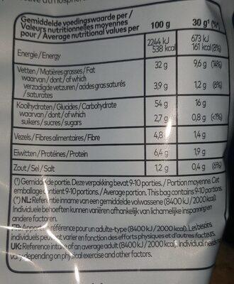 Lays paprika - Voedingswaarden - en