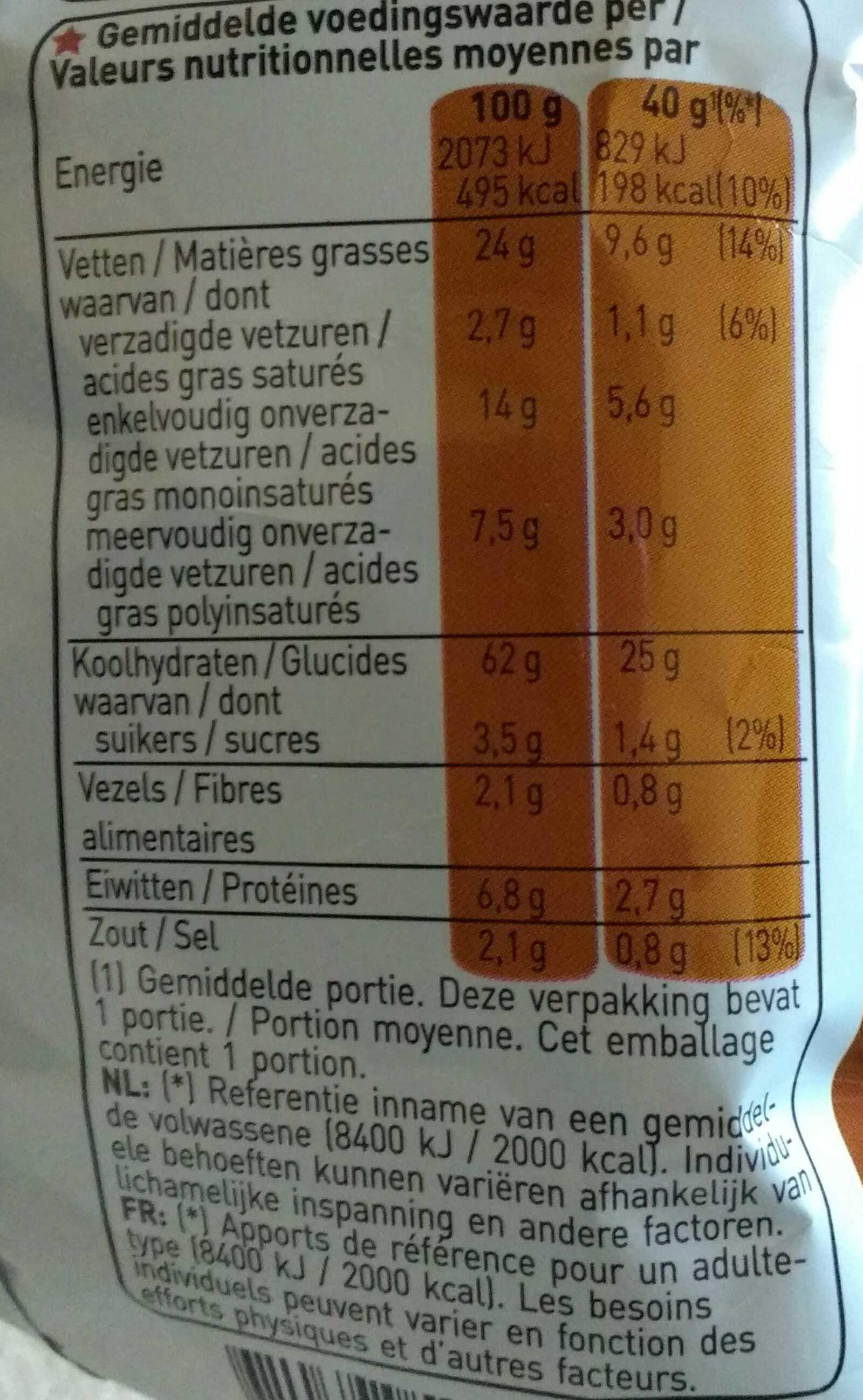Grills fumé - Voedingswaarden - fr