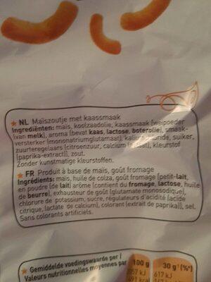 Chipito Goût Fromage Cheetos - Ingrediënten - fr