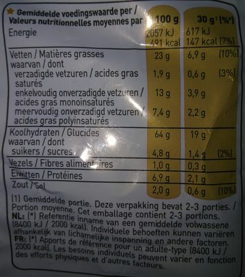 Chipito Goût Fromage Cheetos - Voedingswaarden - fr