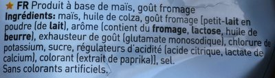 Goût Fromage - Ingredients - fr