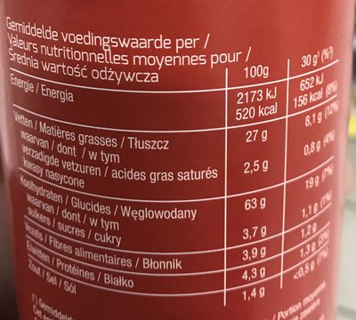 Stax Original - Informations nutritionnelles - fr