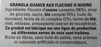 Havermout Flocons d'avoine - Granola - Ingredients - fr