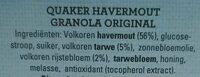 Havermout Granola - Ingredients
