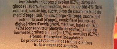Granola - Goji & blueberry - Ingrediënten - fr