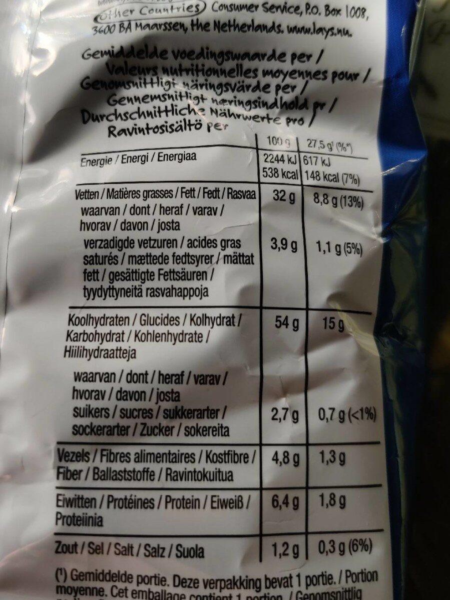 Lay's Paprika Flavour - Nährwertangaben - en