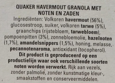 Granola chunky baked nuts & seeds - Ingrediënten - nl