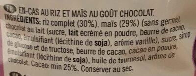 Galettes de riz/maïs au chocolat - Ingredients - fr