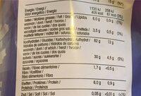 Galettes de riz/maïs au chocolat - Nutrition facts - fr