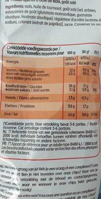 Bugles naturel - Informations nutritionnelles - fr