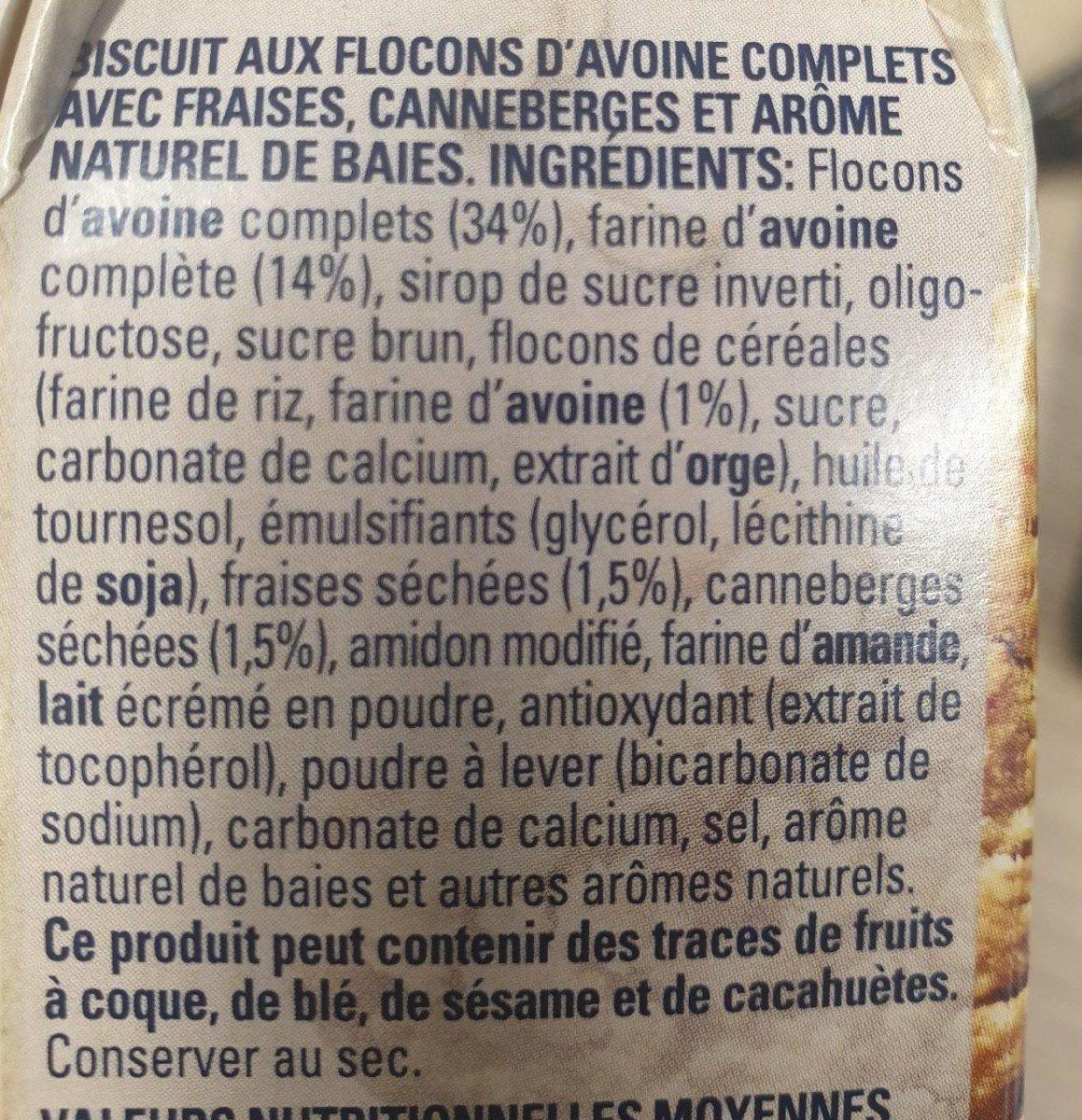 Morning biscuits - Ingrédients - fr